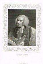 "Portrait of ""BISHOP LOWTH"" by Tallis - Engraving - c1840"