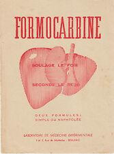 Buvard Vintage  Formocarbine Laboratoire de Médecine Expérimentale