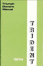 1974 Triumph Trident 750, T150 V, OEM, U.S. OWNERS Manual, Brown Paper Wrap