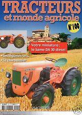 FASCICULE 100 FARM TRACTOR TRACTEUR MONDE AGRICOLE SAME DA 30 DT TRENTO 1956