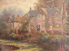 "Thomas Kinkade Rare CANVAS COLOR STUDY of ""Gardens Beyond Spring Gate"" LE # 496"
