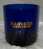 Harveys Bristol Cream Sherry Cobalt Blue Glass Libbey Glasswear New