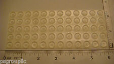 """60 SELF-ADHESIVE SILENT CABINET BUMPERS 3/8"""" x 1/8"""" USA CLEAR BUMPERS + SAMPLES"""