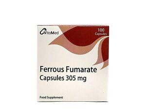 Ferrous Fumarate 305mg 100 Capsules x3 packs (300 capsules)