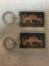Two Reno NV The Biggest Little City in the World Plastic Souvenir Keychain