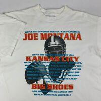 VTG 90s Kansas City Chiefs 1993 Joe Montana Football T-Shirt Mens XL RARE