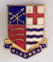 NL & District Womens Bowling Club Badge Pin Rare Vintage United Kingdom (M17)