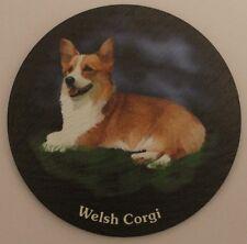 Welsh Corgie Lying  -  Dog - Coaster - Welsh Slate