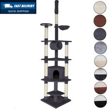 dibea Cat Tree Activity Centre Ceiling High Sisal Climbing Toy, 240 to 260...