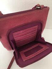 Fossil Genuine Leather Organizer Bag Pink Designer Fashion Hip Chic Wallet