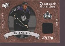 KYLE CALDER 2008-09 UD ARTIFACTS GAME USED WORN JERSEY PATCH SP LA KINGS $15
