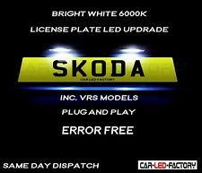 Fit Skoda Octavia Fabia VRS White LED Number Plate Light Bulbs *PLUG & PLAY*