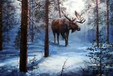 "Jim Hansel ""North Country"" Bull Moose SN Artists Proof"