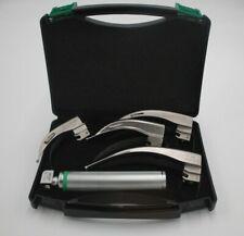 NEW ORIGINAL FIBER OPTIC Laryngoscope Mac Set of BLADE & HANDLES EMT Anesthesia