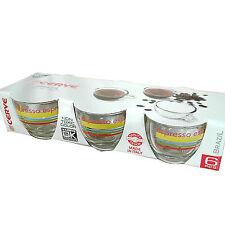 Set 6 tazzine caffè vetro decorato atossico 7,5 cl con manico Cerve Made italy