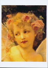 Guillaume Seignac Print WINGS OF DESIRE Love Cupid Angel Rose Fairy Crown Roses
