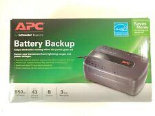 Apc Ups Battery Backup & Surge Protector, 550Va Uninterruptible Power Supply