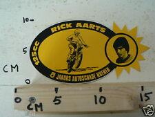 STICKER,DECAL RICK AARTS 125CC NO 82 MOTOCROSS MX JAKOBS AUTOSCHADE NUENEN