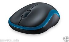 NEW Logitech Wireless Laser Mouse M185 Blue nano USB receiver 2.4GHz Retail Box