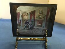 McINTOSH STEREO OPTICON CO. VINTAGE MAGIC LANTERN GLASS ROYAL LEAGUE HAPPY HOME