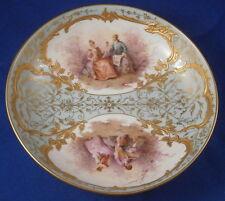 Nice Art Nouveau KPM Berlin Porcelain Scenic & Gold Saucer Porzellan Untertasse