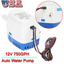 12V 750GPH Automatic Bilge Pump Marine Boat RV Auto Submersible Water Pump US