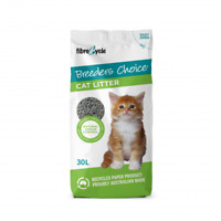 NEW Breeder's Choice Odour Control Lightweight Recycled Paper Cat Litter 30L