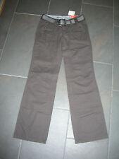 Damen Jeans Hose Esprit Boy Fit braun mit Gürtel Gr. 34 lang neu NP 60€