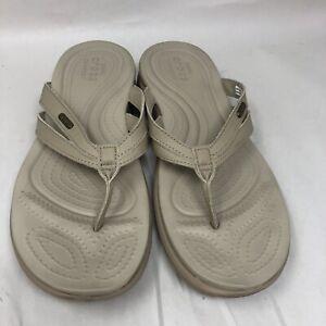 CROCS Capri Basic Strappy Flip Sandal Brown 205797 Women's Size 10