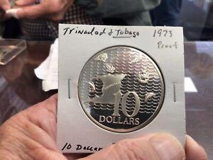 1973 Trinidad & Tobago Proof Silver 10 Dollars