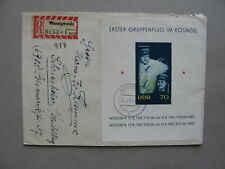 GERMANY DDR, R-cover 1962,  S/S space Wostok III & IV astronauts