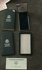 1990 Eisenhower Silver Dollar $1 Uncirculated Commemorative BOX COA ONLY NO BOX