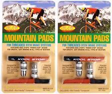 2-Packs Kool-Stop Mountain MTB Brake Pads Linear Pull Threaded MTB DUAL-COMPOUND
