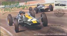 1963b lotus-climax, brabham-climax, afrique du sud F1 couverture signé trevor taylor