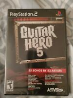 Guitar Hero 5 (Sony PlayStation 2 PS2) BRAND NEW FACTORY SEALED RARE 🔥🎸🎮🔥