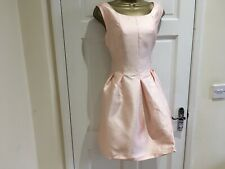 Brand New Womens Peach Stylish Party Evening Fitted Skater Dress Size 12