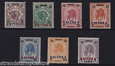ITALIA (ERITREA) - 1924 francobolli della Somalia-Menta MTD-SG 83-89