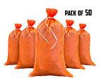 Sandbags - 50 Orange - Empty Sand Bags for Flood - Sandbag Bag Poly by Sandbaggy