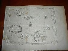 1760 PREVOST COPPER PLATE MAP OF ISLANDS OF CAPE VERDE AUTHOR: SCHLEY