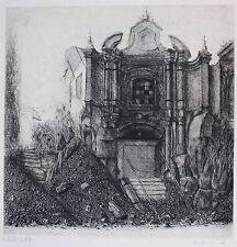 Peter Ackermann (1934-2007) architectural etching. signed & numbered LVIII/LXX.