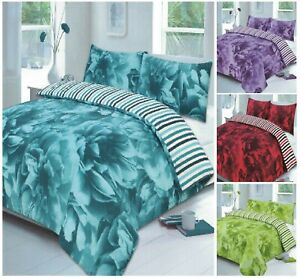 "Luxuries ROSE Floral Modern Duvet Quilt Cover + Pillow Case Or CURTAIN 66"" x 72"""