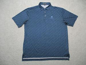 Peter Millar Summer Comfort Polo Shirt Mens XL Blue Short Sleeve Stretch Wynn
