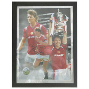 BRYAN ROBSON SIGNED PHOTO MONTAGE IN DISPLAY BOX
