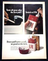 Life Magazine Ad L&M Cigarettes 1969 AD