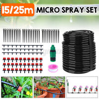 Adjustable Water Irrigation System Drippers Nozzle Barb Connector Kit Set  yy