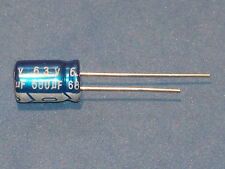 Elko, Radial, 680µf (680uf)/6,3v/105 ° C, (ø8x11,5mm), 10 pièces-JB Capacitors