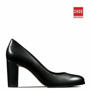 Clarks KAYLIN CARA Black Womens Heels Dress/Formal Leather Heels