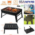 Portable BBQ Barbecue Grill Large Folding Charcoal Stove Camping Outdoor Garden photo