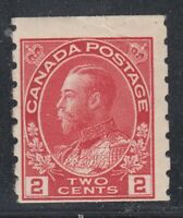 "Canada MINT OG Scott #127  2 cent carmine  ""KGV Admiral COIL"""