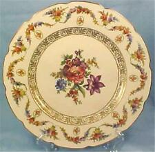 Bavaria Dinner Plate Wildflowers Gold Porcelain Schumann Crown Mark V 53 Beauty